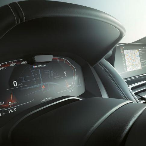 Nuova BMW M850i xDrive, quadro strumenti, Driving Assistant Plus.