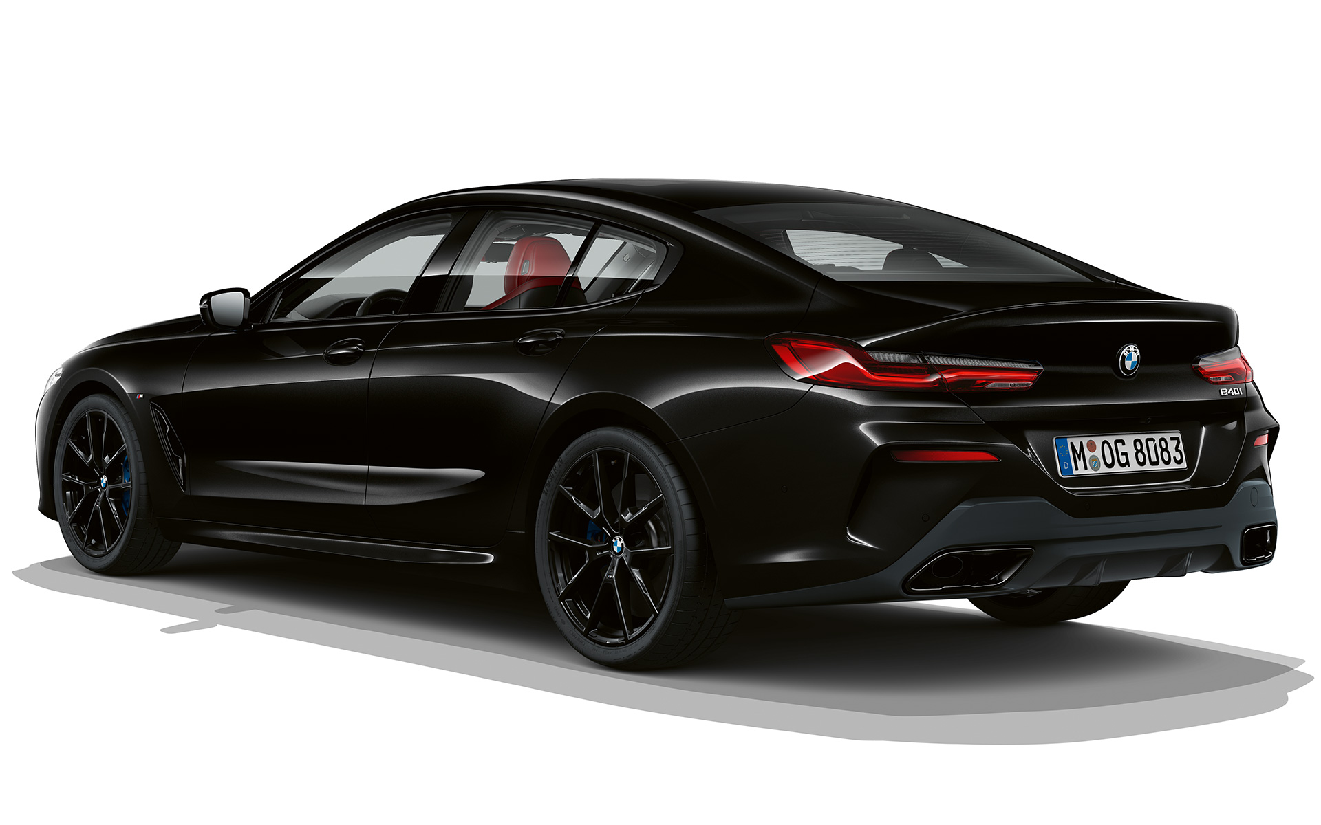 BMW Serie 8 Gran Coupé, Dark Seduction, vista posteriore a tre quarti