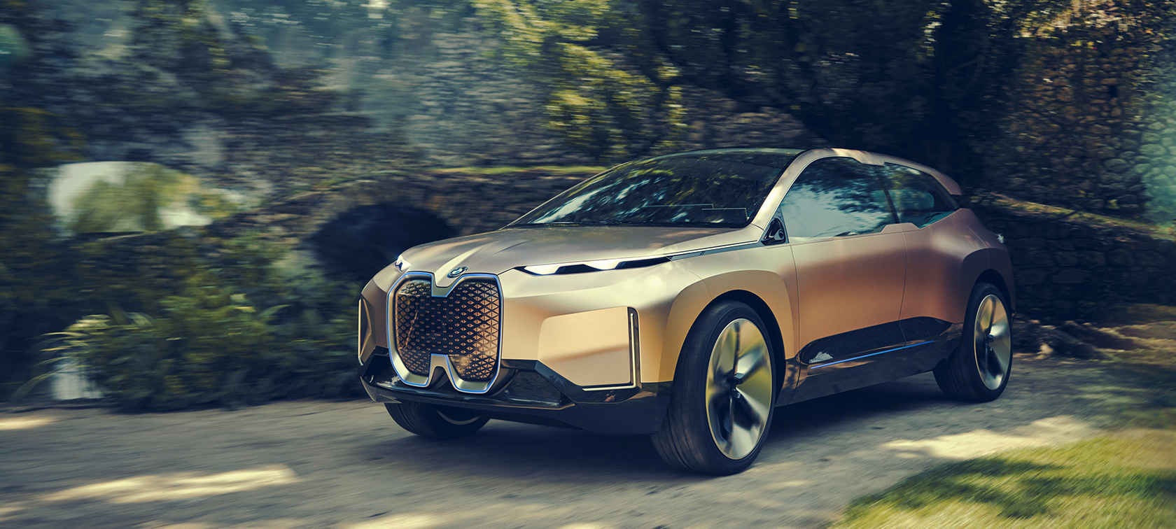 Frontale della BMW Vision iNEXT